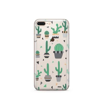 Cactus Party - Clear TPU iPhone Case / Samsung Case Phone Cover