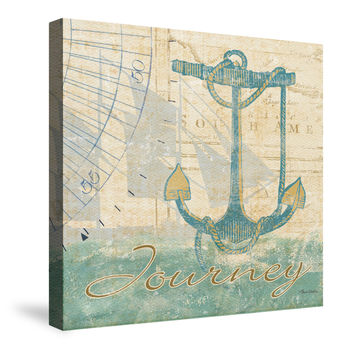Mariner Sentiment IV Canvas Wall Art