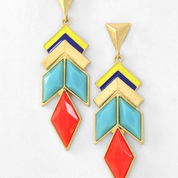Pocahontas Earrings - Orange