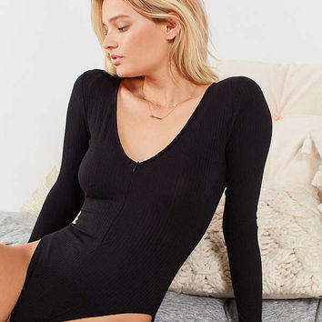 Out From Under Retro Zip Long Sleeve Bodysuit | Urban Outfitters