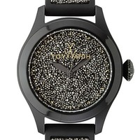 TOYWATCH 'Glitter' Silicone Strap Watch, 38mm
