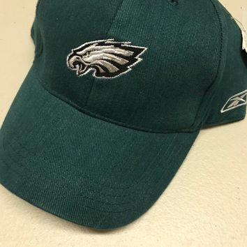 PHILADELPHIA EAGLES CHILD GREEN REEBOK FLAT BRIM ADJUSTABLE HAT SHIPPING