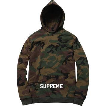 Supreme: Athletic Hooded L/S Tee - Woodland camo