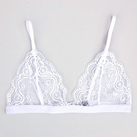 Lace Triangle Bra in Dove White by Sierra May