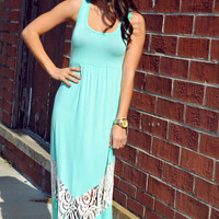 Damsel In Distress Maxi Dress: Mint | Hope's