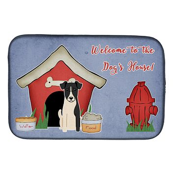 Dog House Collection Smooth Fox Terrier Dish Drying Mat BB2852DDM