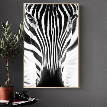 WANGART Wall Art Painting Poster Prints Canvas Pictures Minimalism Animal Zebra Abstract For Living Room No Frame Home Decor