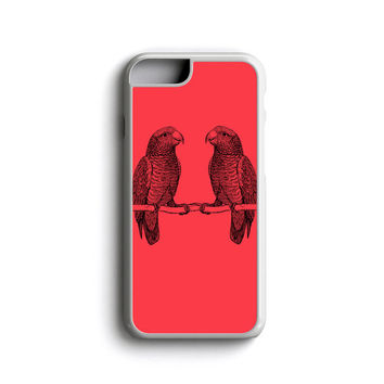 iPhone Case Parrots BFF For iPhone 4, iPhone 5, iPhone 5c, iPhone 6, iPhone 6 Plus with FREE iPhone Tempered Glass Screen*