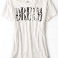 AEO Women's Lst & Fnd Dream Graphic T-shirt (White)