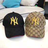 GUCCI NY Embroidered Baseball Cap Hat