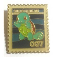 Pokemon 1998 Part 1 Squirtle Metal Stamp Pin Badge