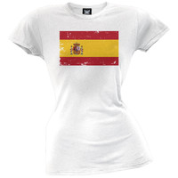 World Cup Spain Distressed Flag Juniors T-Shirt