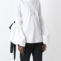Marni Detachable Sleeve Poplin Top - Luisa World - Farfetch.com