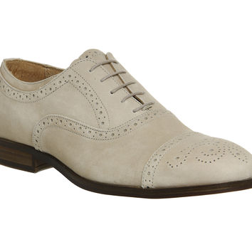 Ask the Missus Catskill Oxford Brogues Beige Nubuck - Smart