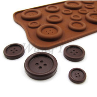 Hot Sale Useful Silicone Chocolate Ice-Cubes Tray Mold For Button Shape Cooking Tools JJ_0258