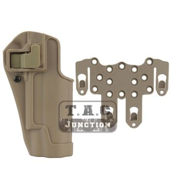 Tactical CQC Serpa Concealment Right Hand Quick Pistol Holster Gun Case w/ STRIKE MOLLE Platform for Colt 1911 M1911