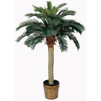 SheilaShrubs.com: 4' Sago Silk Palm Tree 5043 by Nearly Natural : Artificial Flowers & Plants