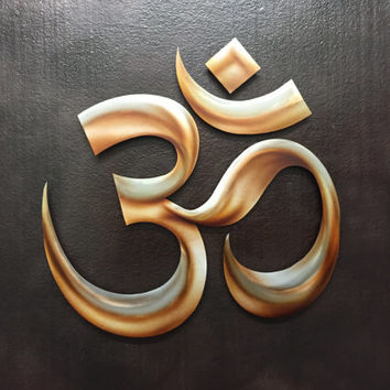 3D Metal Om Symbol - Wall Art - Metal Art - Yoga Art - Meditation Art - Metals Wall Art - Metal Ohm
