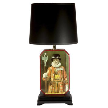 Vintage English Beefeater Tin Lamp