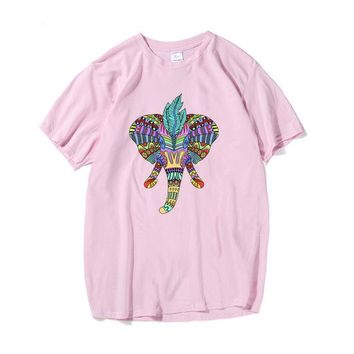Psychedelic Elephant Graphic Tee