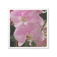 Pink Orchid blooms Napkin