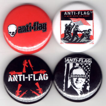 Anti-Flag | A New Kind of Army Political Punk Buttons Pins Badges Pinback