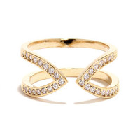 Just Between Us Gold Rhinestone Ring