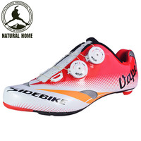 [NaturalHome] Brand Professional Road Bicycle Cycling Shoes Men's Bike Racing Athletic Shoes Breathable Self-locking Shoes