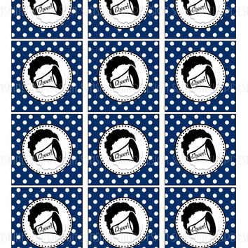 Printable Cheer Cupcake Toppers, Sticker Labels & Gift Tags