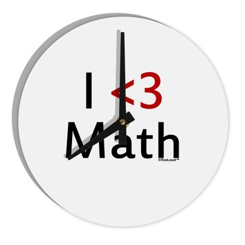 "I Heart Math 8"" Round Wall Clock  by TooLoud"