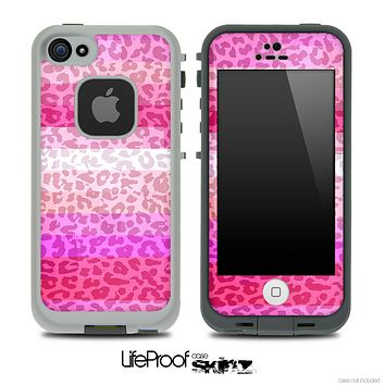Pink Colored Animal Print Skin for the iPhone 5 or 4/4s LifeProof Case