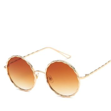 Hot sale Round Color Sun Glasses Women Sunglasses Brand Designer Colored Eye Lenses Sunglass Round Clear Glasses Vintage glasses