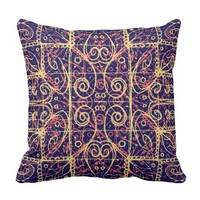 Tribal Ornate Pattern Throw Pillow