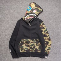Men's Fashion Winter Camouflage Patchwork Couple Casual Hoodies [11086495687]