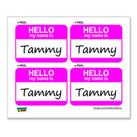 Tammy Hello My Name Is - Sheet of 4 Stickers