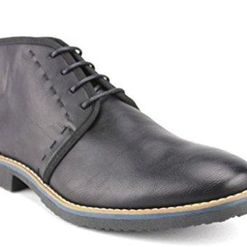 New Mens B-1505 Ankle High Stitched Desert Chukka Boots
