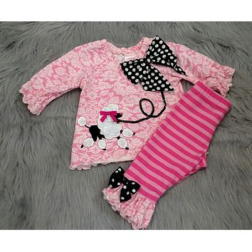 Molly & Millie By Peaches N Cream Pink Poodle Set