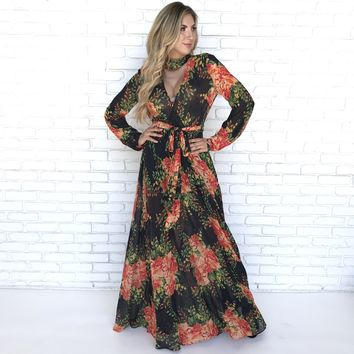 Garden of Eve Floral Maxi Dress