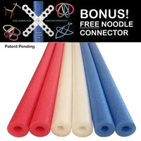 Patriot Pack Deluxe Foam Pool Swim Noodles - 6 PACK 52 Inch FREE SHIPPING!
