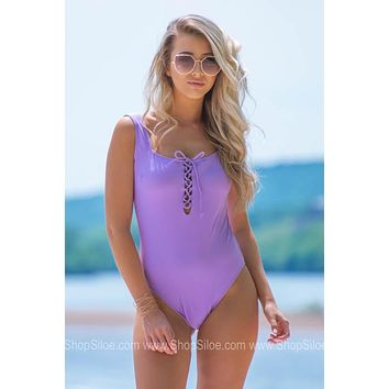 Open Back Criss Cross Tie Swimsuit