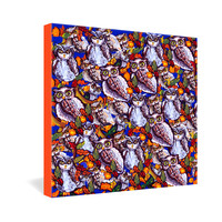 Renie Britenbucher Owls Multi Gallery Wrapped Canvas