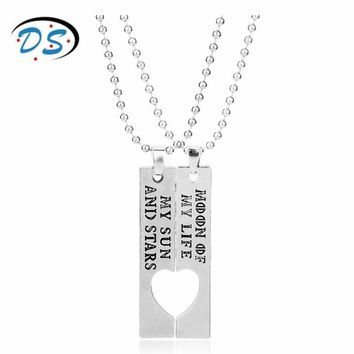 dongsheng jewelry Game of Thrones Moon of My Life My Sun and Stars Letters Necklace for Lover Couples Gift Beads Chain collares
