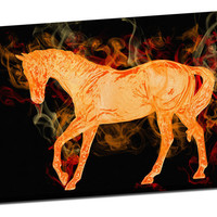 Fiery Horse by Lilla Frerichs on Mirror Wrapped Premium Canvas