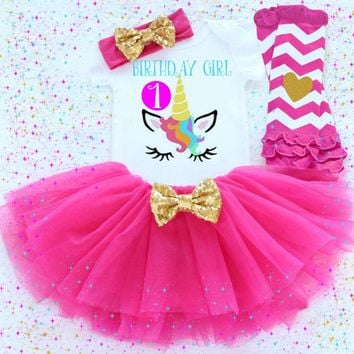 Unicorn 1st Birthday Tutu Outfit