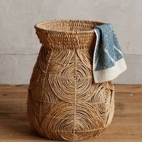 Abaca Spiral Basket by Anthropologie Natural One Size Office