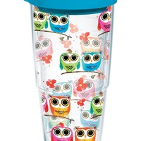 Colorful Woodland Owls Wrap with Lid | 24oz Tumbler | Tervis®