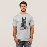 Horse & fence....your barn or mine T-Shirt