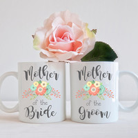 MOTHER of the BRIDE Groom, Set of 2 Mugs, Newly Engaged Gift, Engagement Mug, Bride to Be Gift, Engaged Gift, Coffee Mug, Cup Office Decor