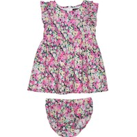 Floral Print Woven Poplin Dress With Panty by Juicy Couture