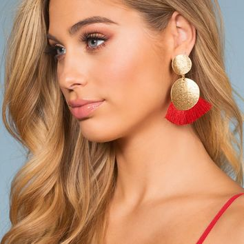 Bella Earrings - Red
